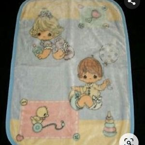 Vintage Precious Moments baby Girl Boy Blanket